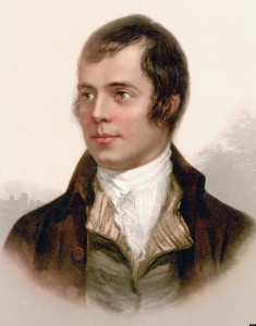 BGNMAC Robert Burns 1759 to 1796. Scottish poet.